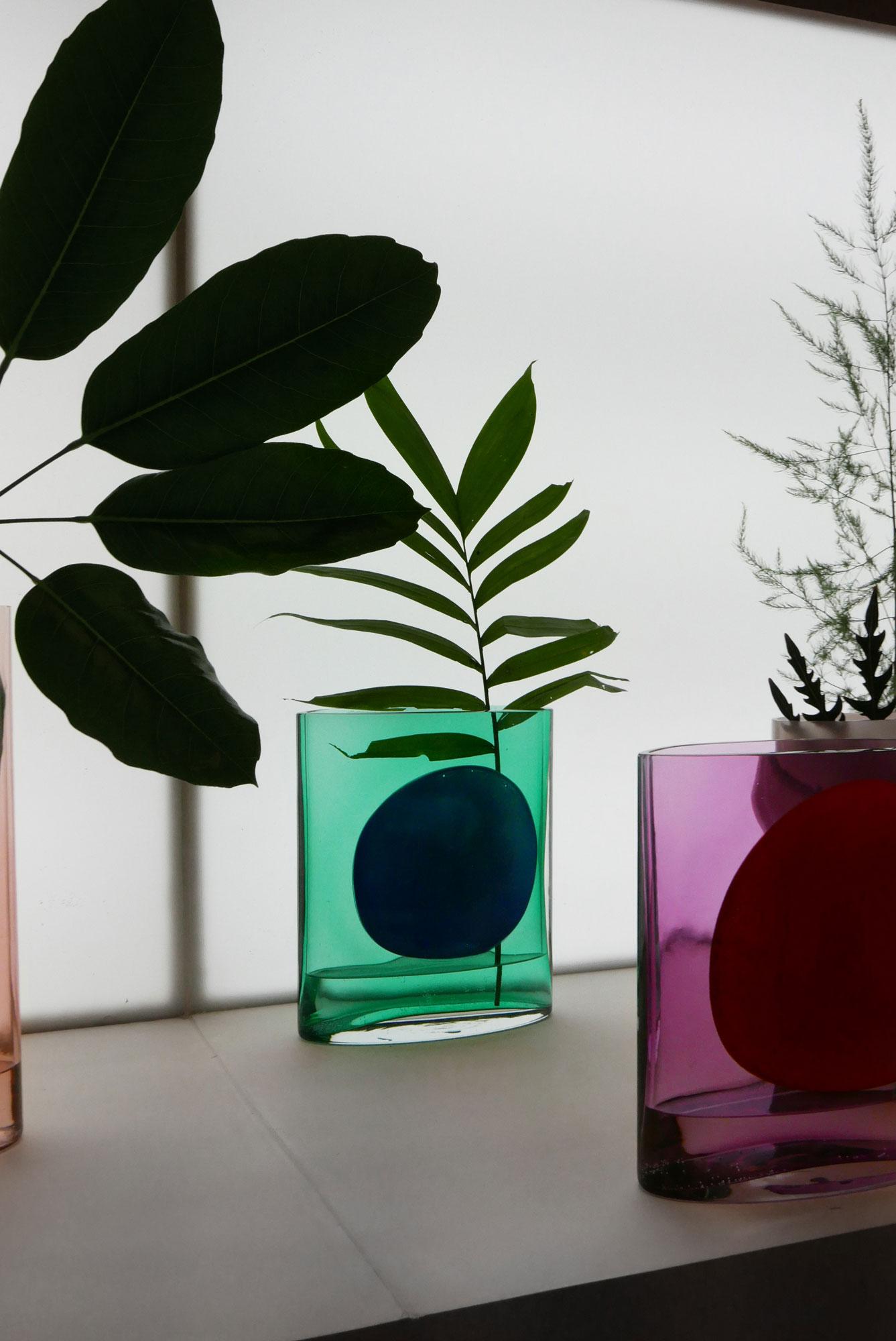 Mundgeblasene Glasvase von Julie Richoz für Nouvel Studio