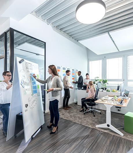 Mobiles Board-System von Sigel für das Büro