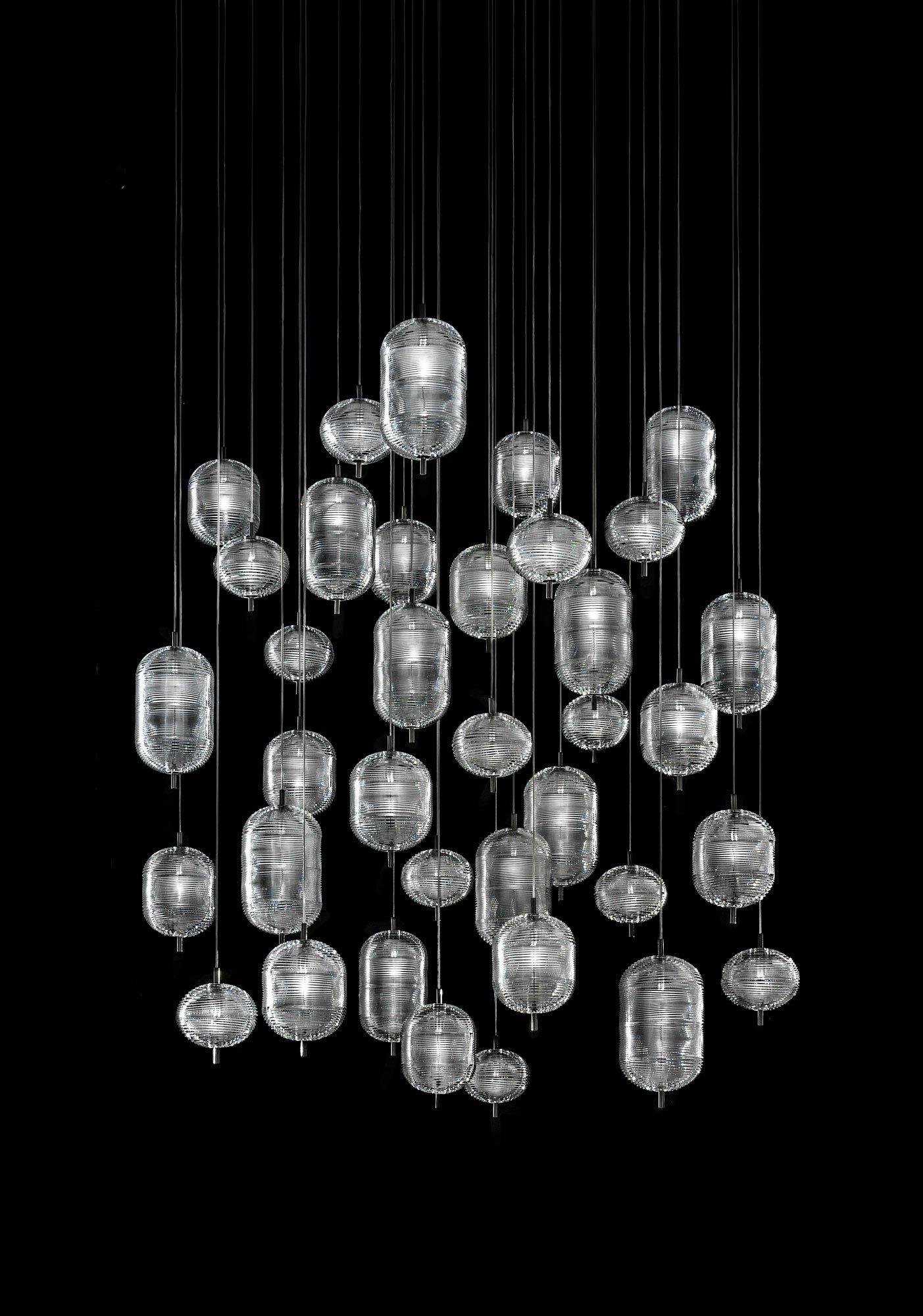 Gläserne Pendelleuchte von Luca Nichetto für Lodes