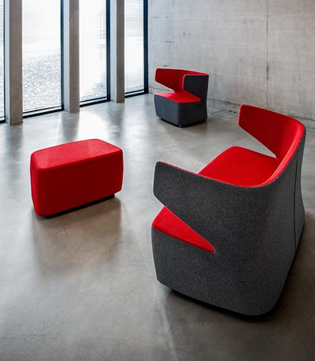 Skulpturales Sofa- und Sesselprogramm aus dem Hause Girsberger