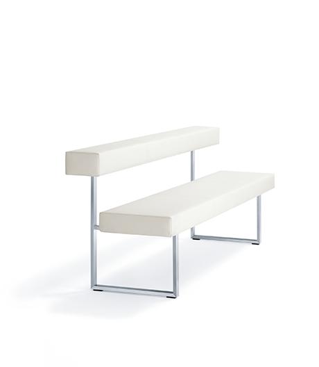 Sitzbank mit Flachstahl-Gestell von Girsberger