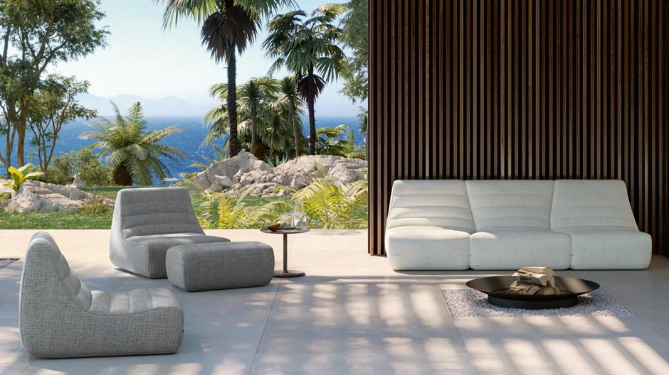 Entspanntes Outdoor-Sitzmöbel von Michel Ducaroy und Ligne Roset
