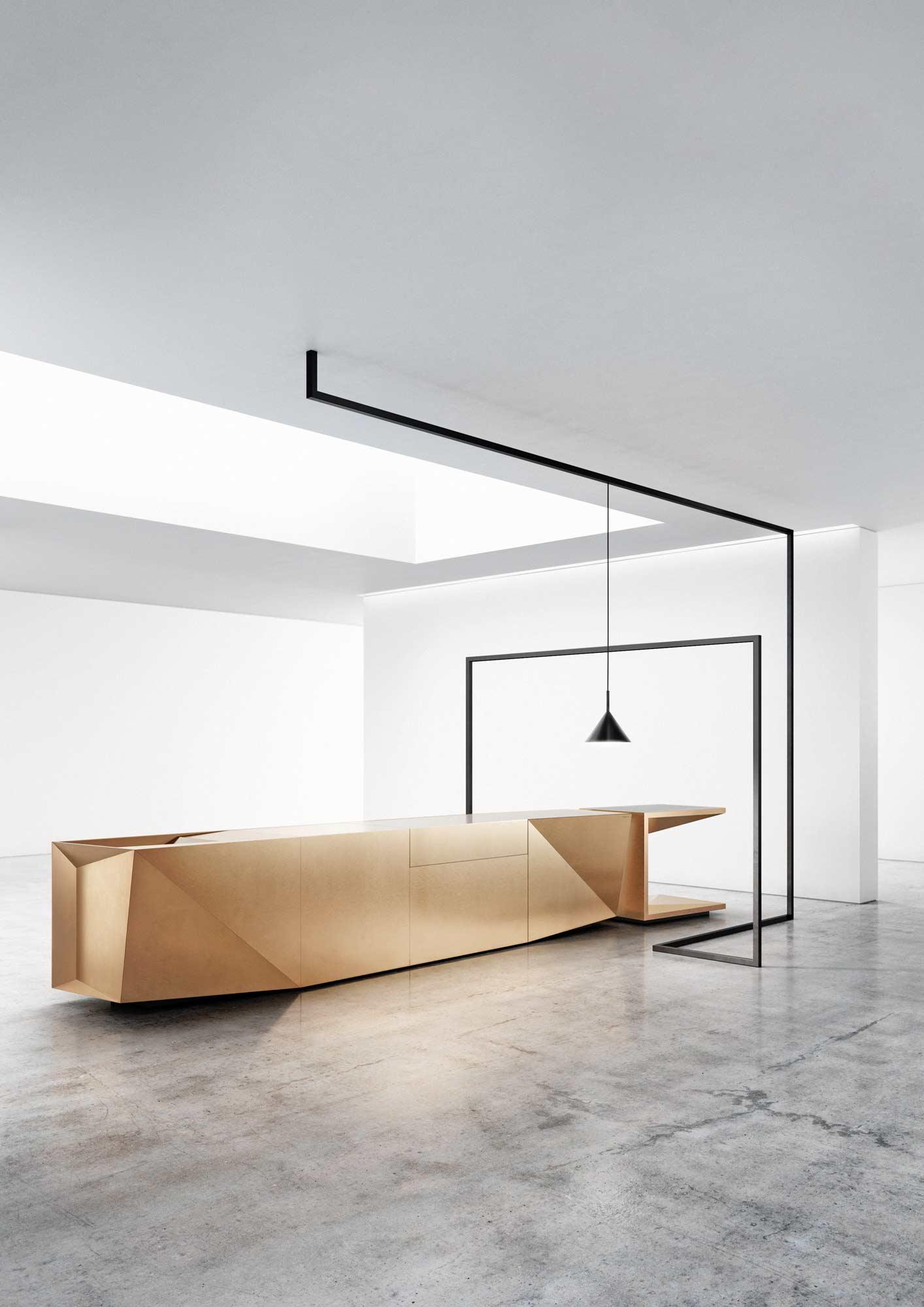 Küchenblock im Origami-Look von Steininger
