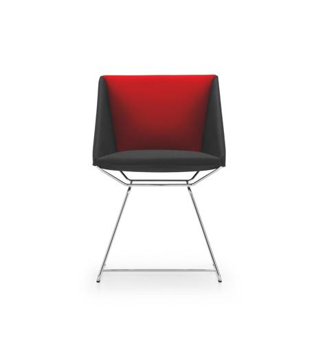 Sitzobjekt von Girsberger mit filigranem Drahtgestell