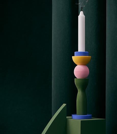 Spielspaß im Bausatz: 3D-druckbarer Kerzenhalter von UAU Project aus Warschau.