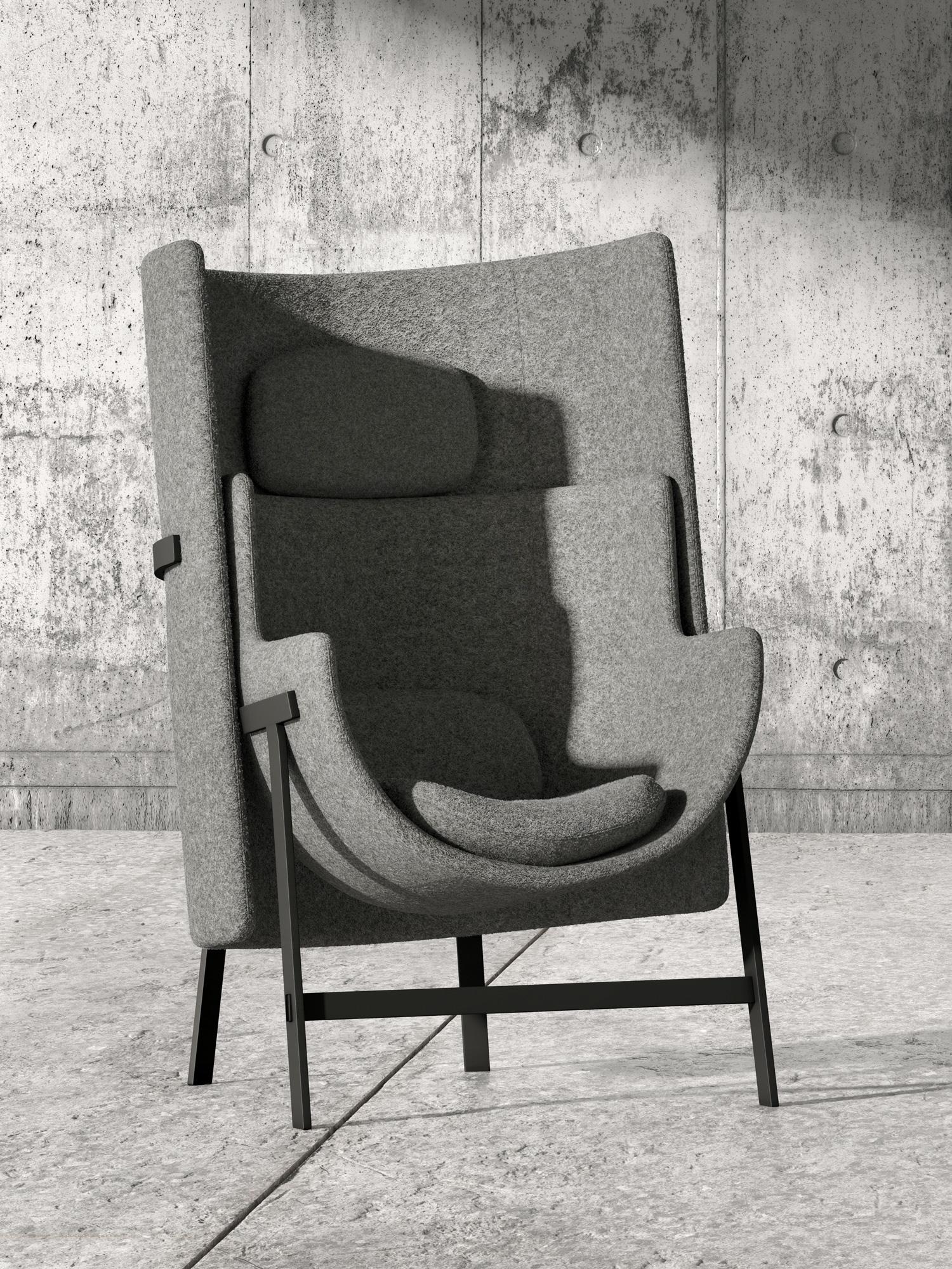 Sessel für kleine Räume von Stellar Works und Nendo