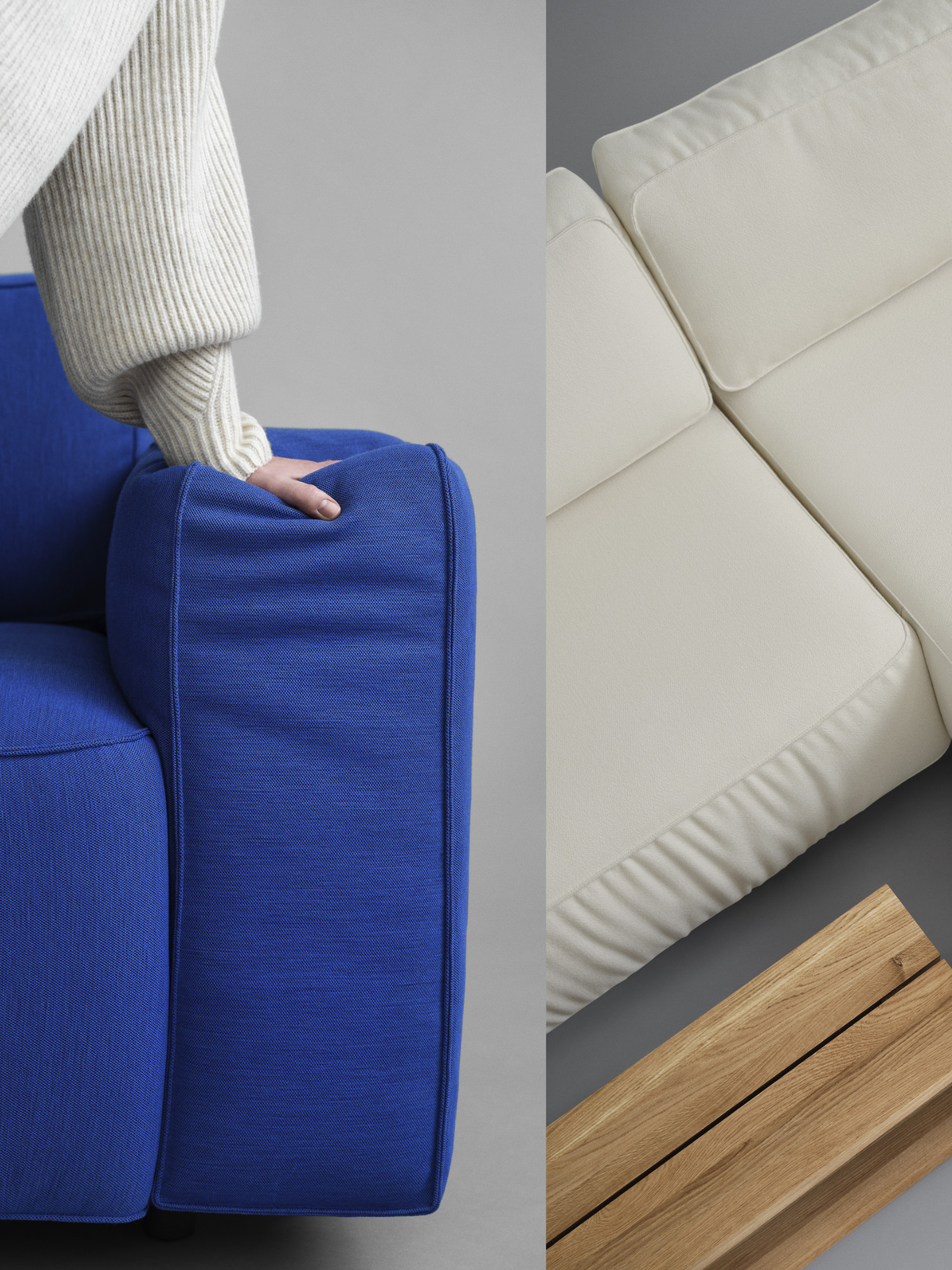 Sofa und kleine Tische von Fogia