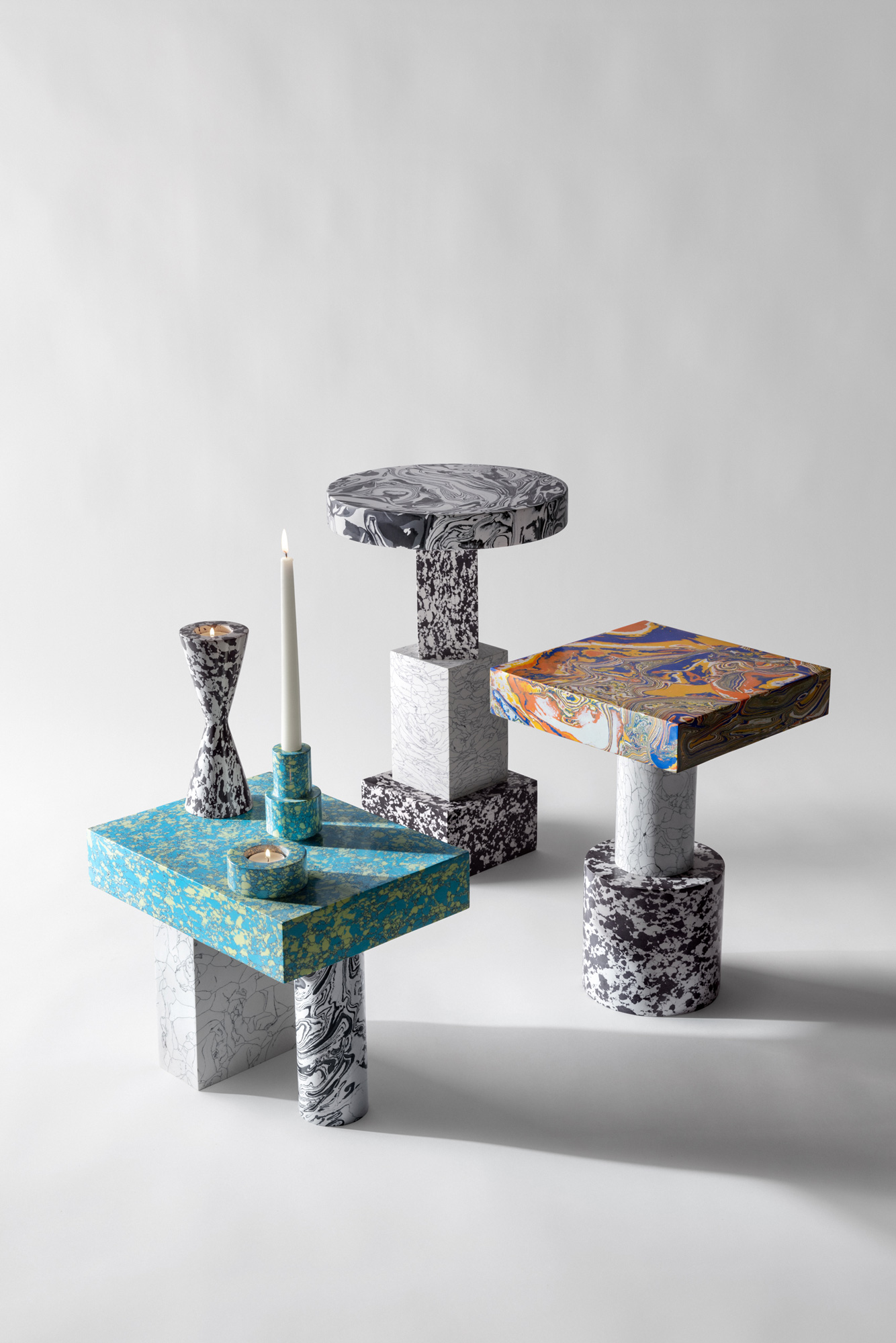 Farbenfrohe Kollektion aus Marmorpulver von Tom Dixon
