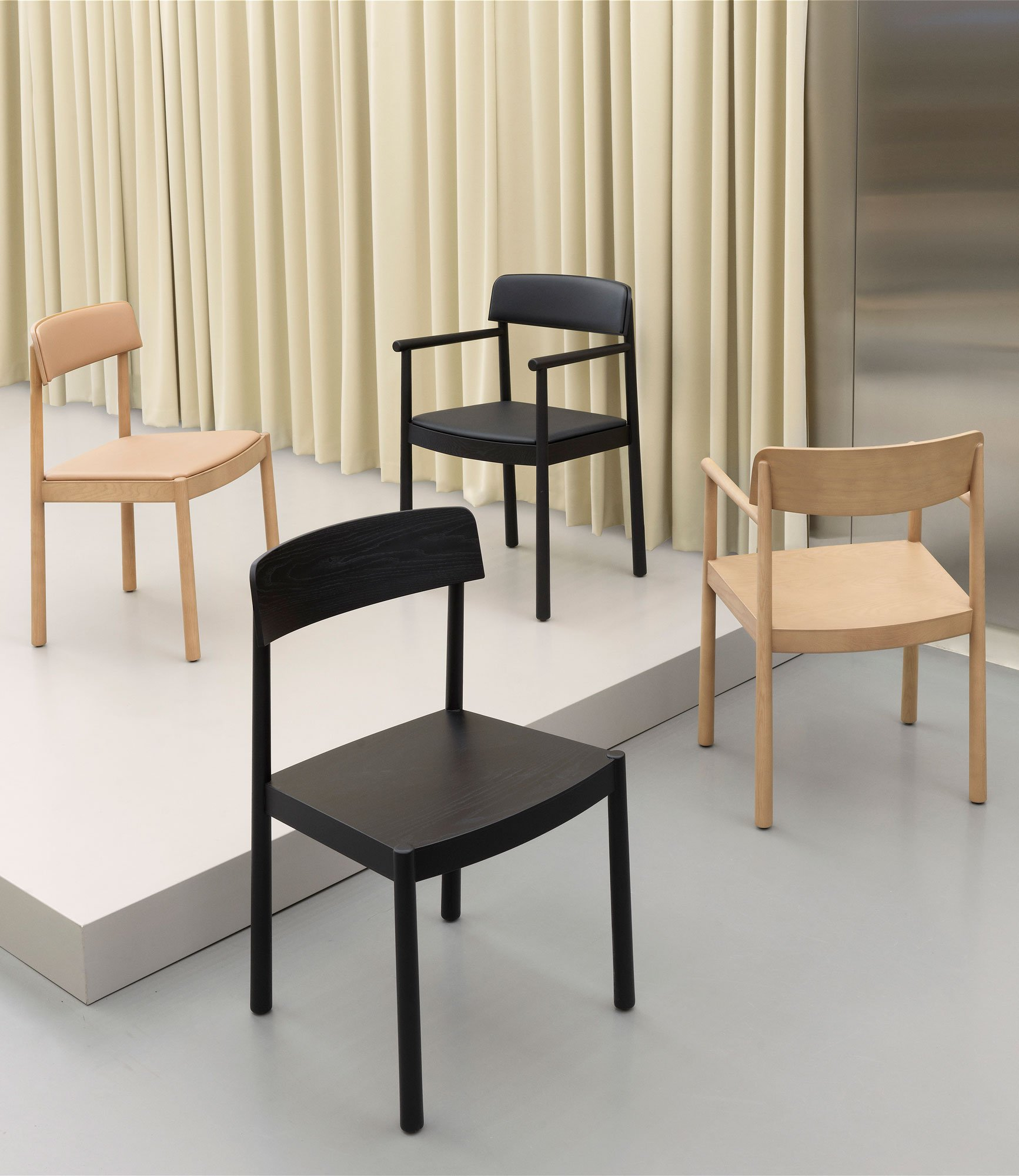 Solider Holzstuhl von Simon Legald für Normann Copenhagen