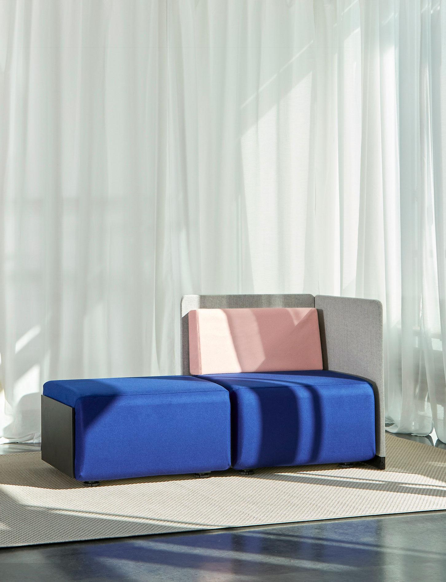 Flexibles Sitz- und Zonierungssystem für offene Räume von Vario
