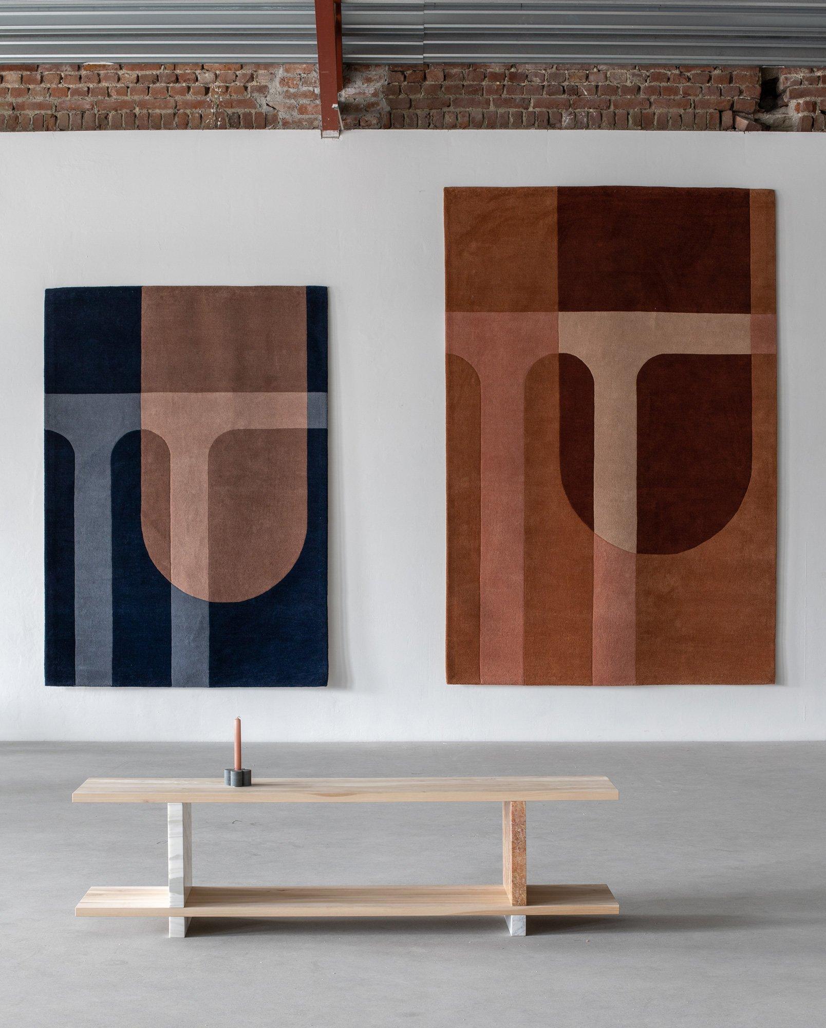 Handgefertigte Teppiche von Krafted und Volver Studios