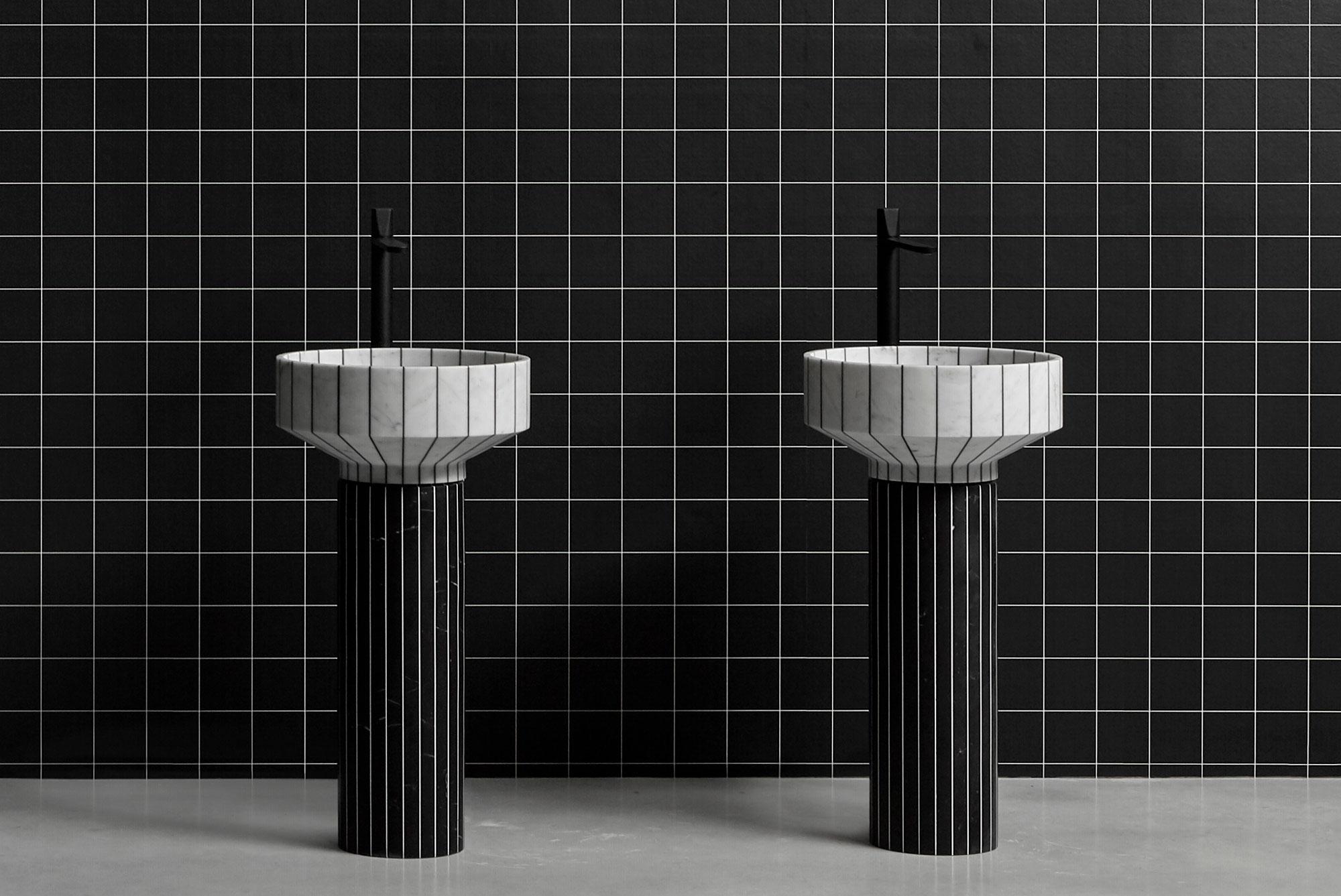 Konstrastreiches Waschbecken von Gumdesign für Antoniolupi