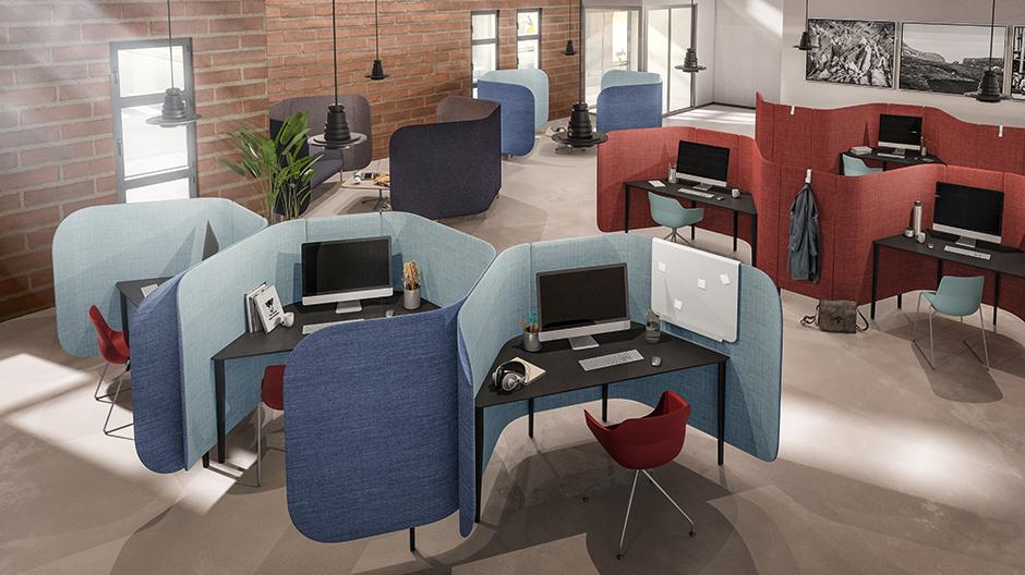 Modulares System für den Arbeitsplatz von Archirivolto für Brunner