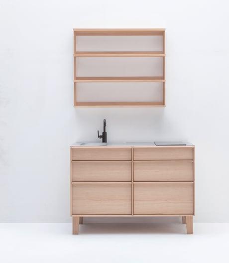 Haptisch: Christian Haas' Miniküche für Karimoku New Standard x Sanwa.
