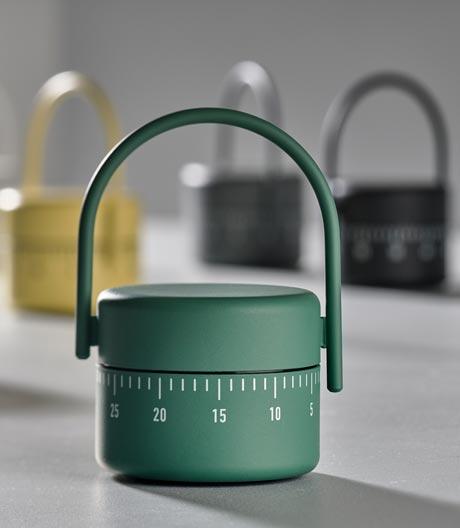 Beim Backen offline geht man mit diesen formschönen Kurzzeitmessern vom dänischen Label Zone Denmark.