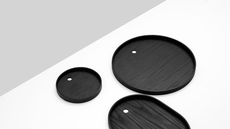 Dreiteiliges Tablettset aus Eschenholz von Norm Architects