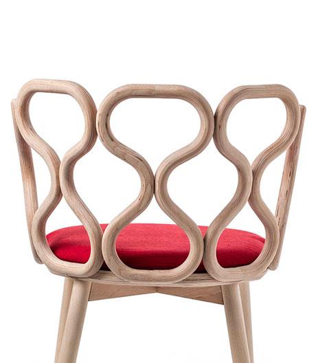 Holzstuhl des italienischen Designerduos LucidiPevere für Very Wood