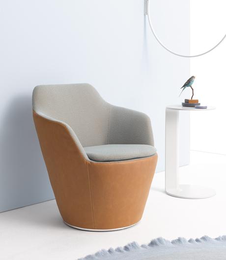 Dynamischer, drehbarer Sessel von Jehs+Laub und Cor