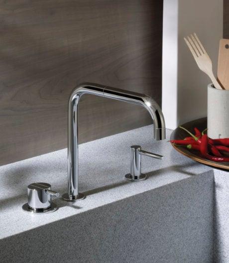 Armatur von Vola, entworfen von Arne Jacobsen