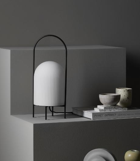 Inspiriert von einer Öllampe: Tischleuchte von Andreas Kowalewski für Woud.