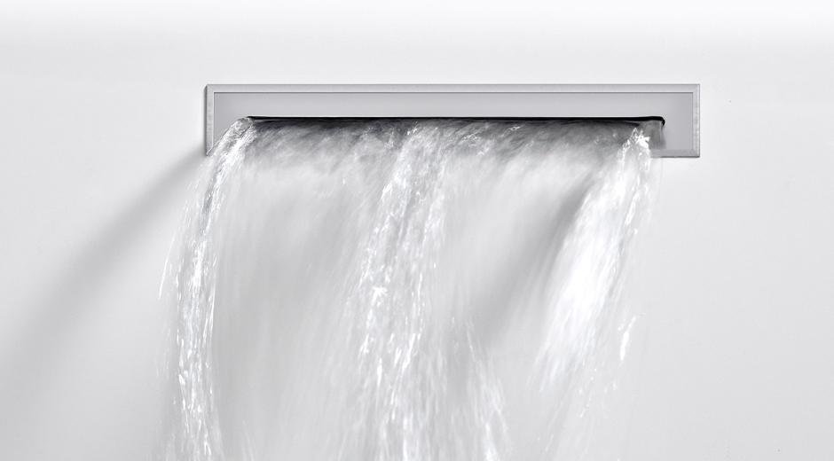 Design von Bette für einen weichen Wassereinlauf