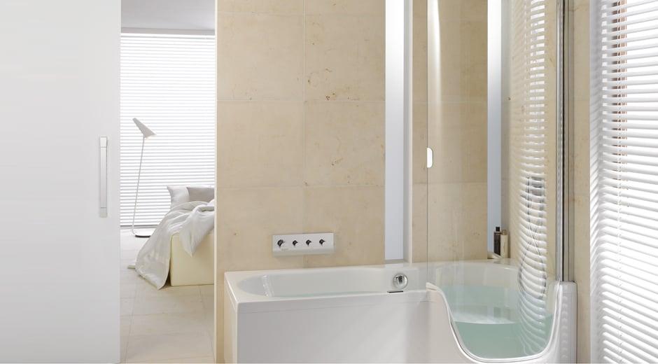 Eine Dusche zum Baden von Bette