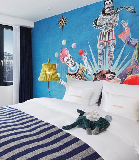Das 25hours Hotel in Wien lockt mit skurrilen Details aus Zirkus und Varieté