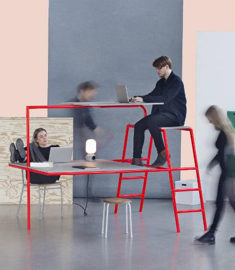 Kompakt: Studenten der Universität Lund in Schweden haben Produkte für kleine Arbeitsräume entworfen.