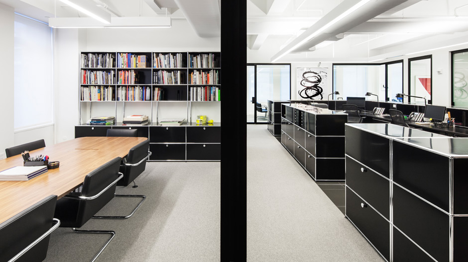 New Yorker Kanzlei mit einem Möbelsystem von USM