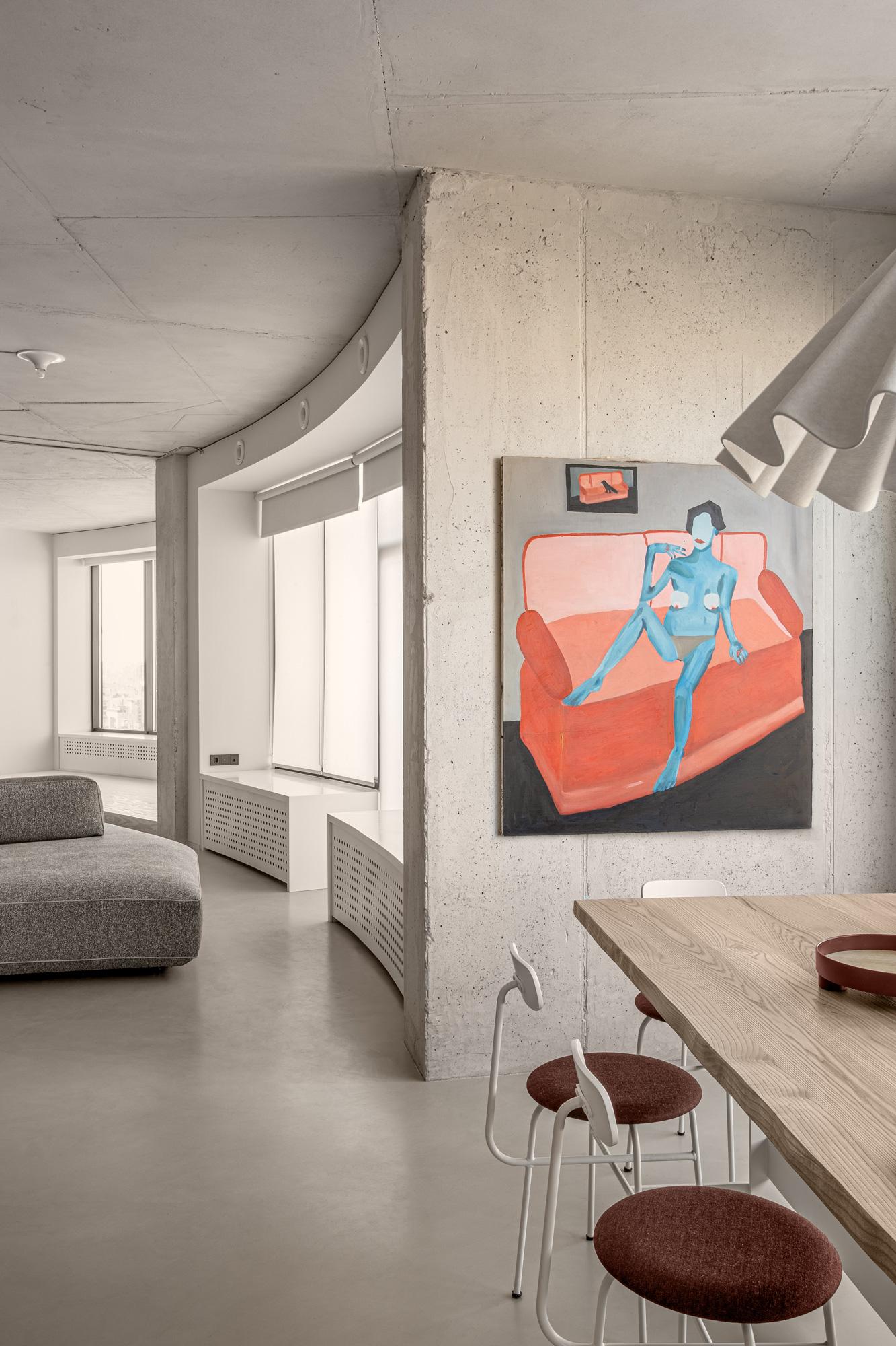 Elegant minimalistisches Apartment von Rina Lovko in Kiew