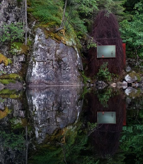 Kleine Fischerhütte in Norwegen von Gartnerfuglen Arkitekter und Mariana de Delás