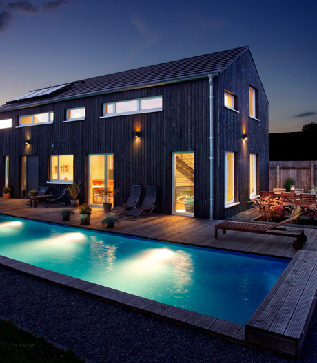 Das Wohnhaus von Alexandra Schmitz im Oberbergischen Land ist smart bis ins Detail
