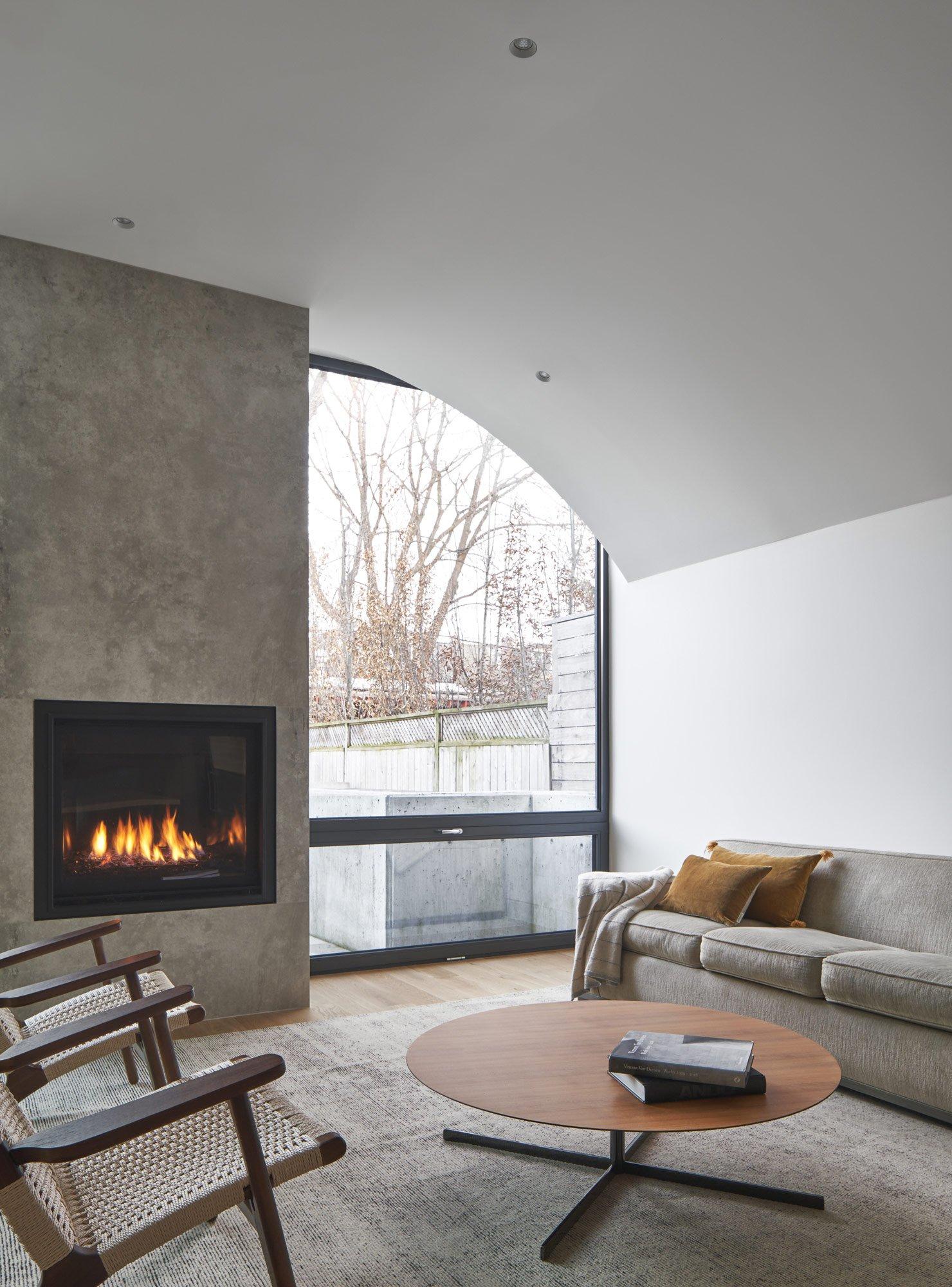 Wohnliches Backsteingewölbe in Toronto von Batay-Csorba Architects