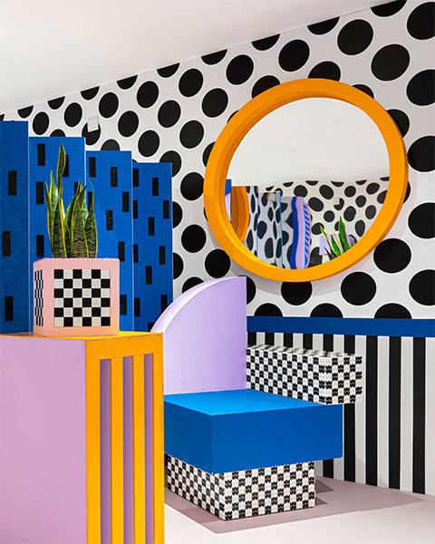 Installation in London im Memphis-Stil von Camille Walala