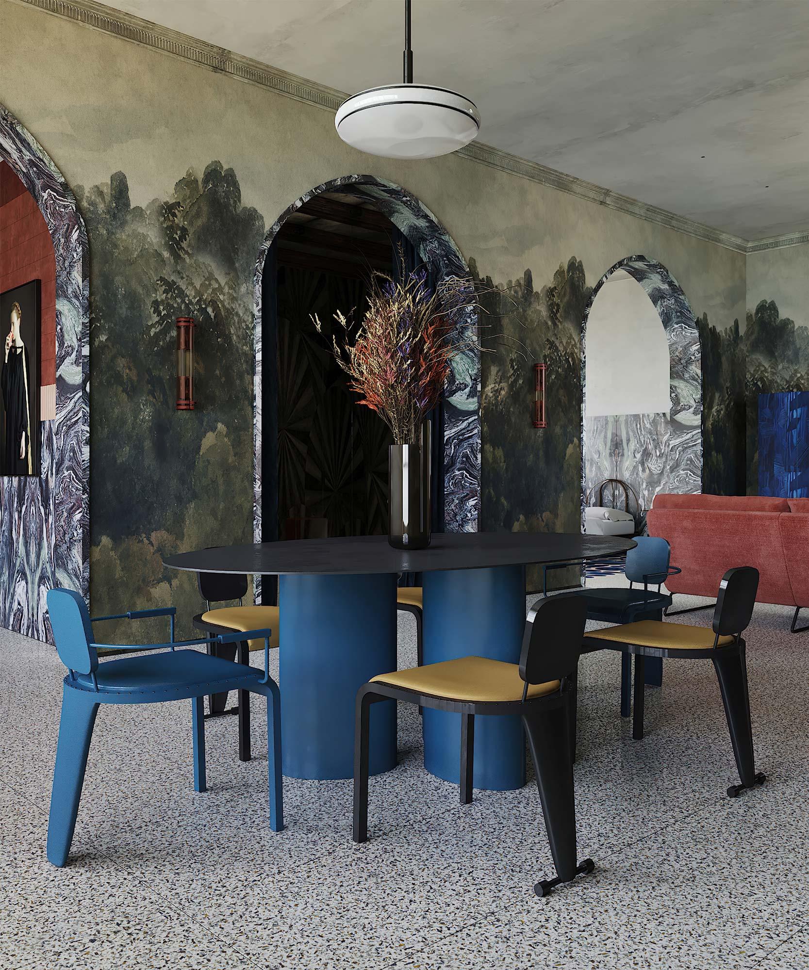 Eklektisches Apartment von Studio Puntofilipino in Mailand