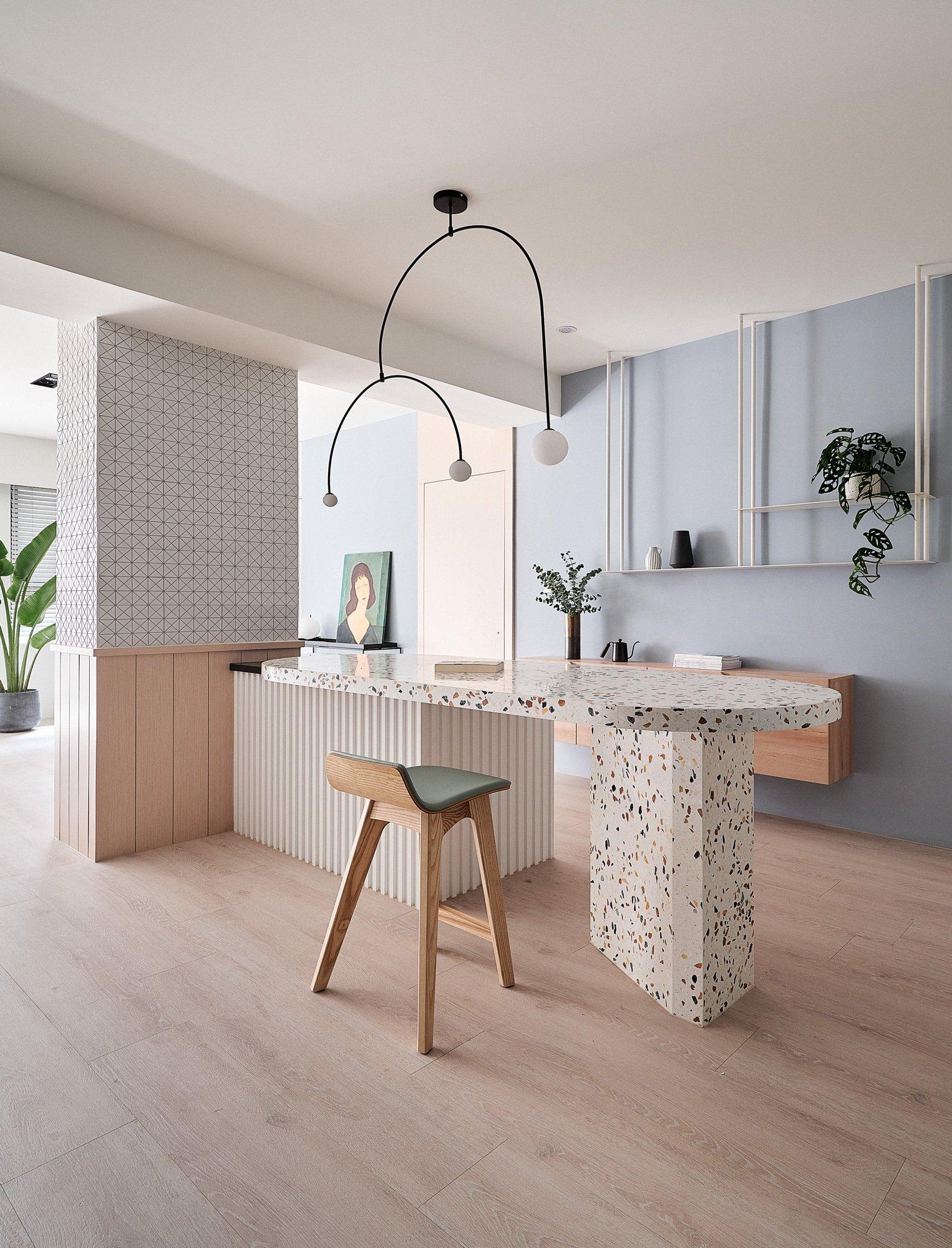 Vom Regenbogen inspiriertes Apartment von NestSpace Design
