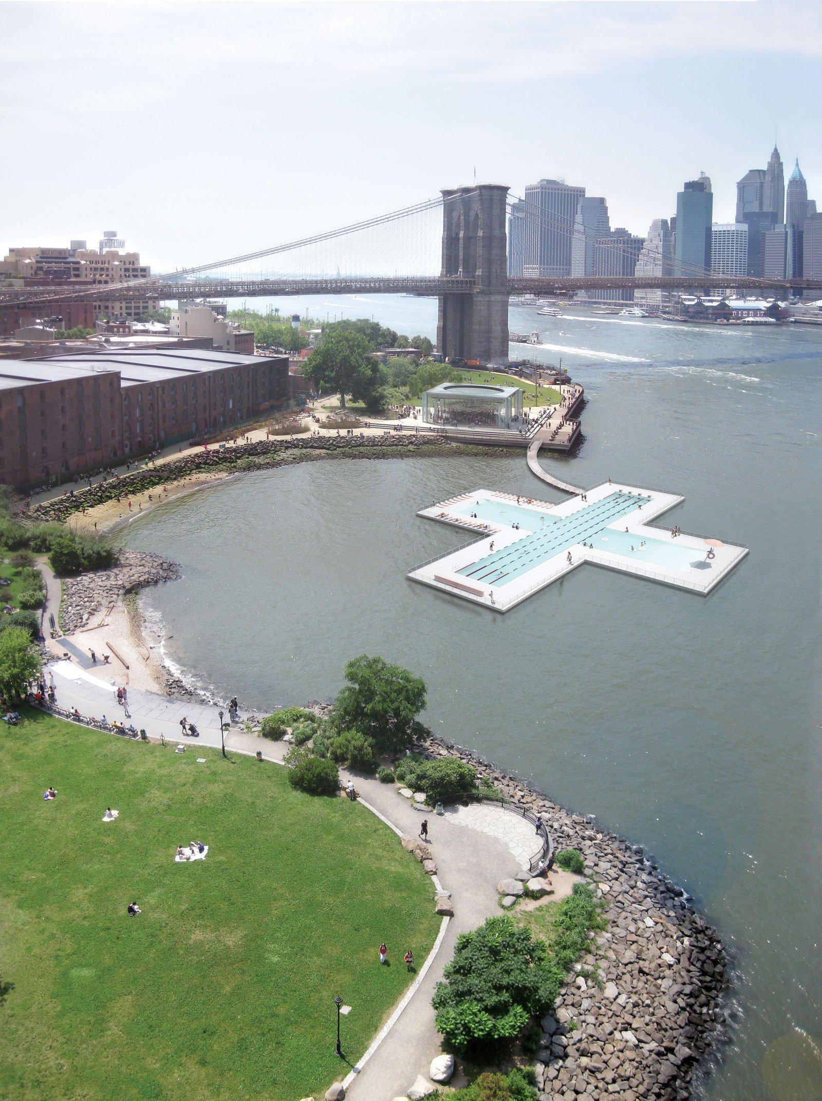 Ein plusförmiger Pool für New Yorks East River