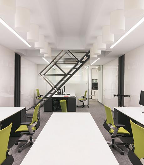 Die Architekten Ortiz Leon setzen im eigenen Büro auf Nachhaltigkeit