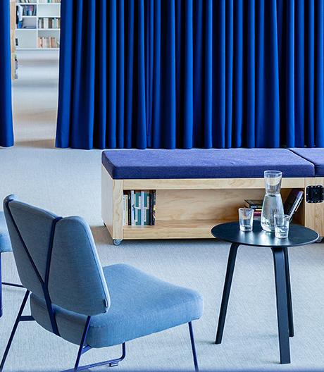 Kinzo Architekten gestalten die Innenräume des Suhrkamp Verlags in Berlin
