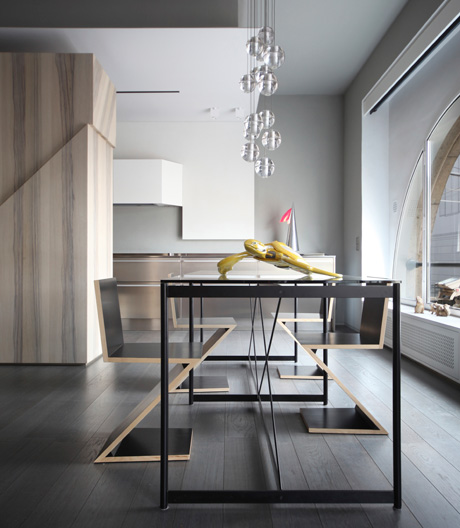 Turiner Apartment von Marcante-Testa als Hommage an Giorgio de Chirico
