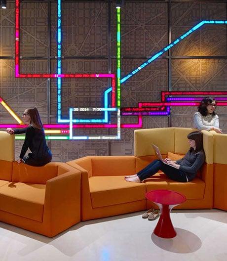 Der neue Firmensitz vonMotorola im einst größten Gebäude der Welt