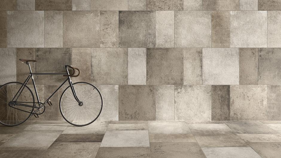 Drei Serien von Villeroy & Boch Fliesen, die das Designthema Beton aufgreifen