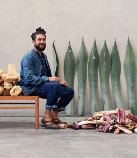 Leder aus Palmen, kunterbuntes Mais-Furnier und Plastik aus Pommes.