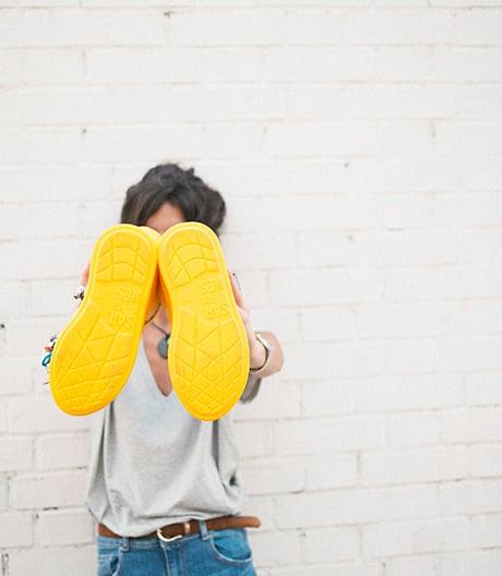 Mit den Wasserschuhen im Büchsenformat immer trockene Füße.