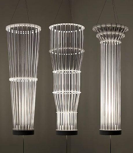 Strumpfgummi statt Glühstrumpf: Lichtskulptur von Umberto Garcia.