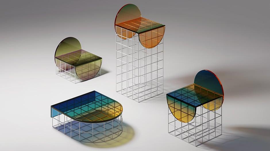 Eine grafische Möbelinterpretation von Jules Tardy.