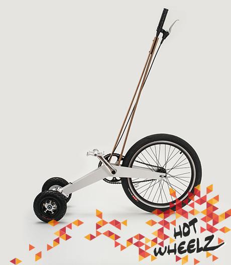 Dynamisch und mit Überblick fährt es sich auf diesem urbanen Dreirad für Erwachsene.