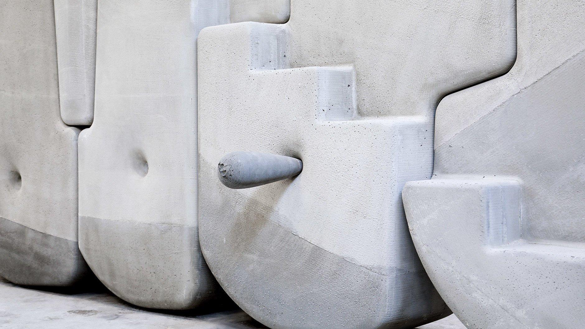 Ein Puzzle aus Betonskulpturen von Matter Design
