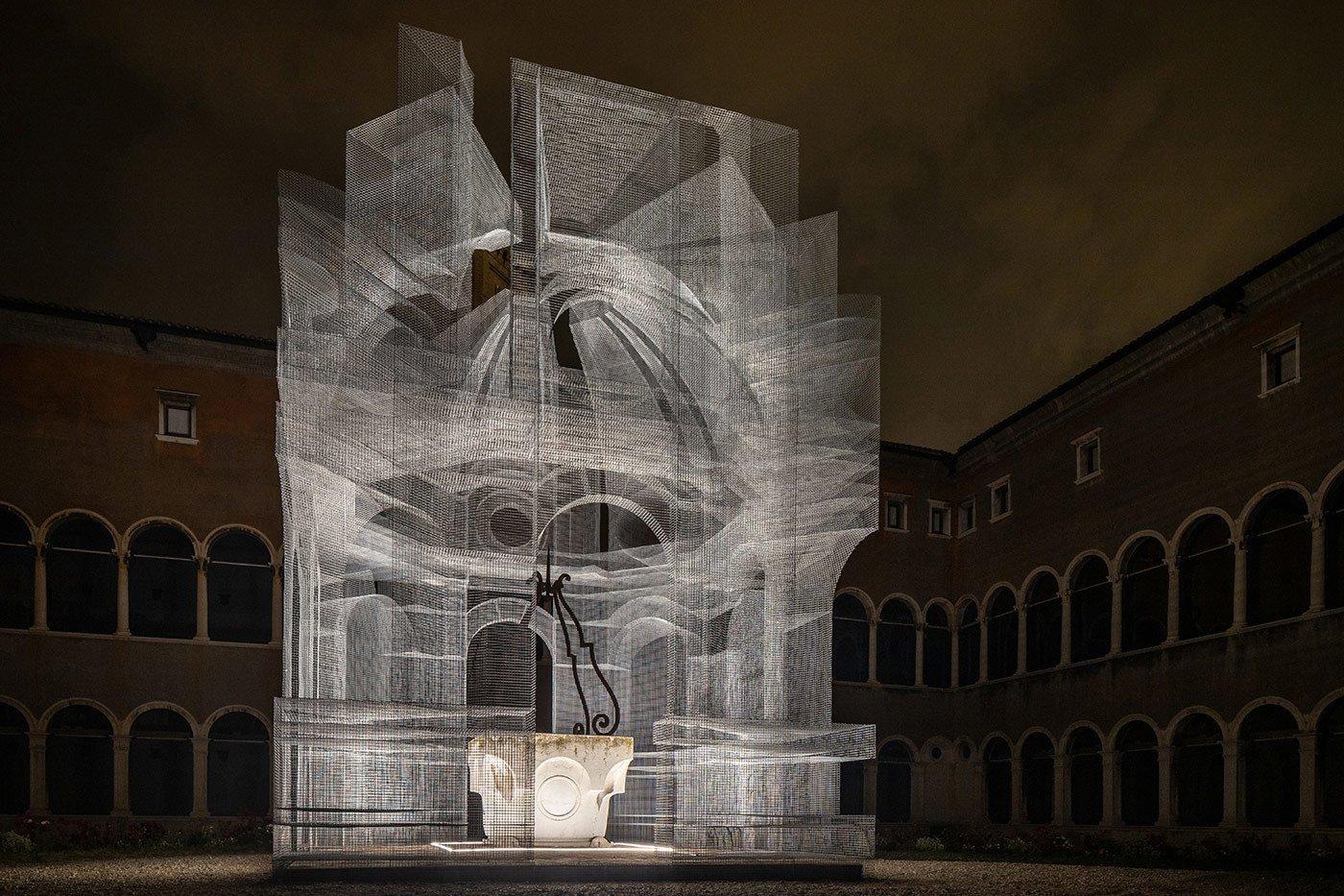 Filigrane Drahtarchitekturen von Edoardo Tresoldi