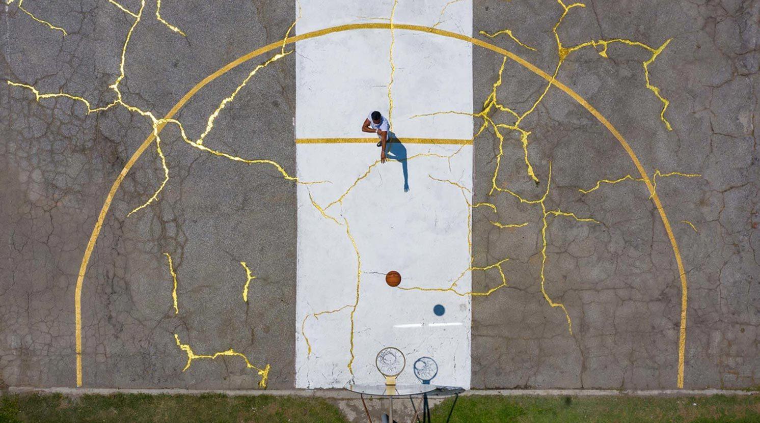 Sportives Kunstwerk von Victor Solomon